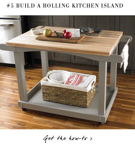 Rolling Kitchen Island Plans