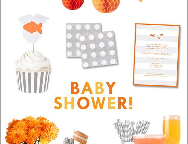 gray-white-orange-baby-shower
