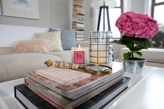 Guest post nook the sea coffee table styling erika brechtel Coffee table accessories