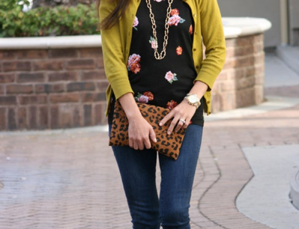 small-shop-spring-outfit-floral-tee-cardi-leopard-walk