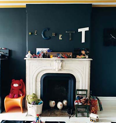 personalizing a nursery: vintage letters by Jenna Lyons in Domino
