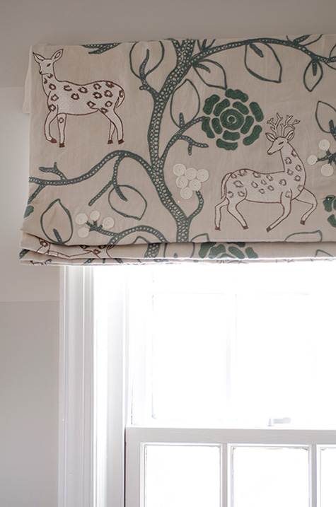 Finnian's Moon D.C. Design House boys room valance forest