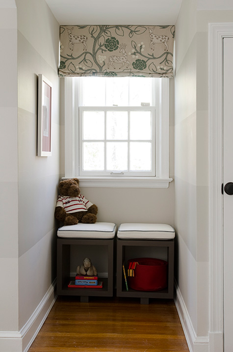 Finnian's Moon D.C. Design House window seat book cubes valance