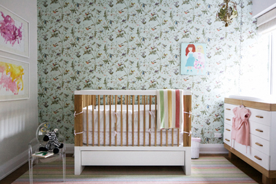 personalizing a nursery: kid's artwork by Nicole Cohen in RUE