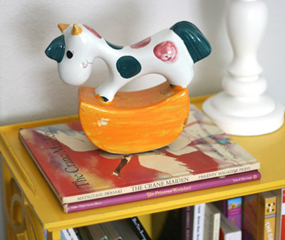 personalizing nursery childhood items rocking horse books