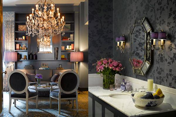 Kishani Perera, traditional, charcoal gray, living room, bathroom, chandelier