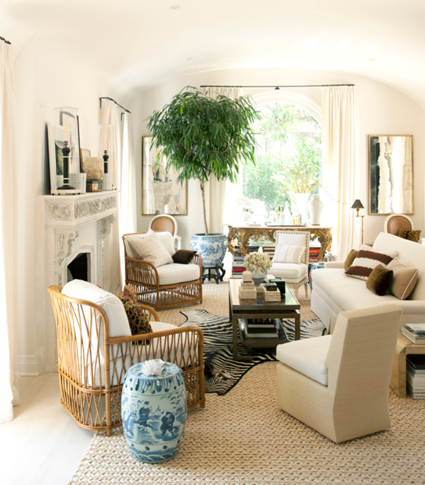 Mark d sikes house beautiful living room white natural chinese
