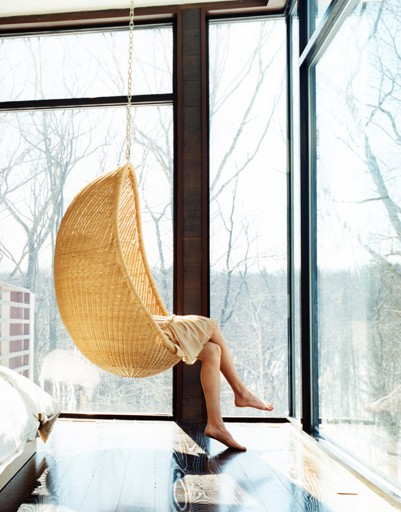 Design Under The Influence: The Rattan Hanging Chair