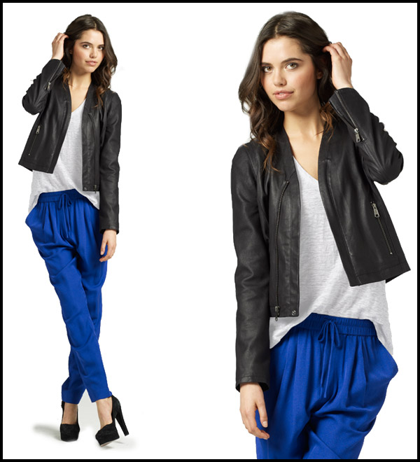 joie-clothing-fall-2012-white-tee-black-leather-jacket-cobalt-pants