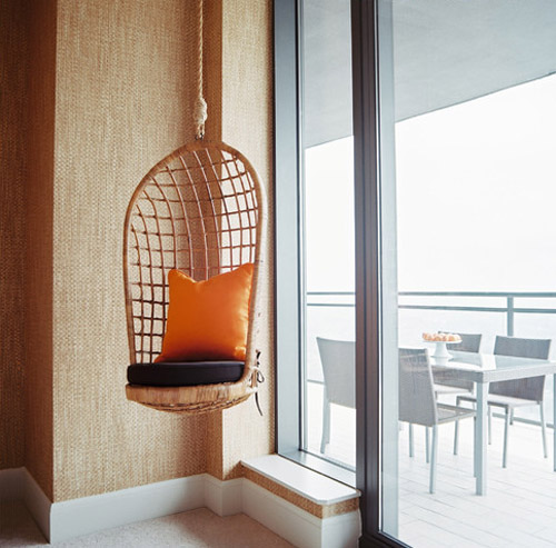 La Dolce Vita: Design Under the Influence: The Rattan Hanging Chair