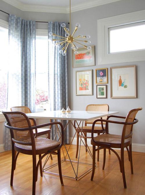 Design under the influence the sputnik chandelier la for Dining room niche ideas