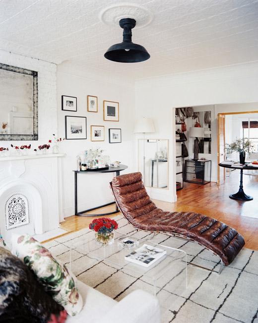 restrained rustic in brooklyn erika brechtel. Black Bedroom Furniture Sets. Home Design Ideas