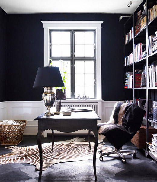 Home Office White Blue: CLASSIC ECLECTIC In Black & White