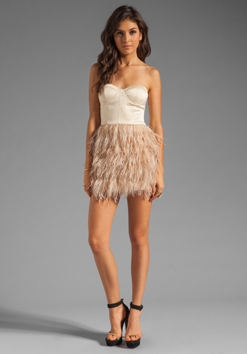 blaque-label-feather-dress-nude