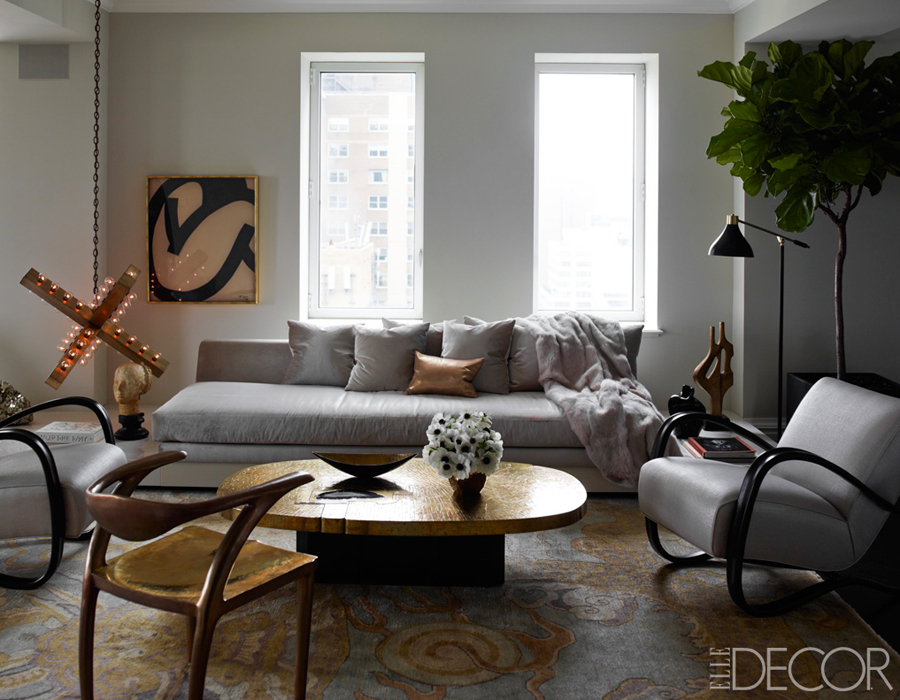 Row house refuge 10 common decorating mistakes - Silver living room decor ...
