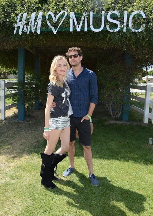H&M Loves Music Coachella party Diane Kruger & Joshua Jackson