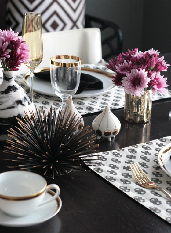 small shop for stone textile, modern glam table setting