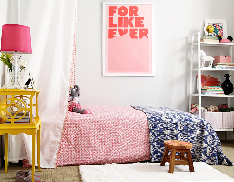 Blabla kids a big girl room reveal featuring blabla dolls for Diy poster bed