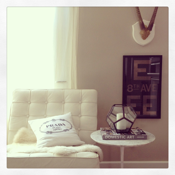 small-shop-instagram-living-room-vignette-Barcelona-Saarinen-antlers-Prada