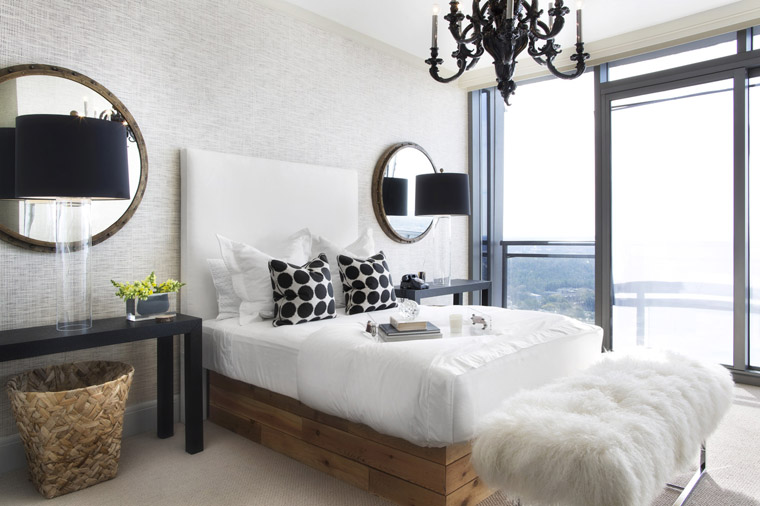 Black Bedroom Chandelier black & white naturalized - erika brechtel