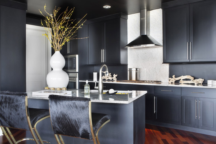 Navy Blue Kitchens That Look Cool And: BLACK & WHITE Naturalized