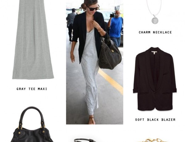 small-shop-get-the-look-miranda-kerr-gray-tee-maxi-black-basics