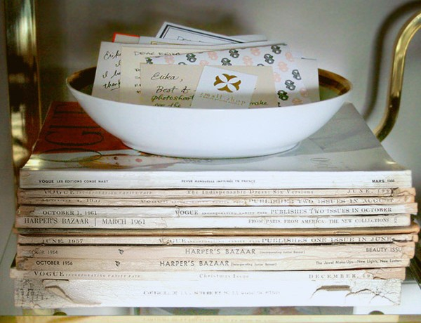 small-shop-Erika-Brechtel-office-vintage-Vogue-Harpers-Bazaar-magazines-smile-file
