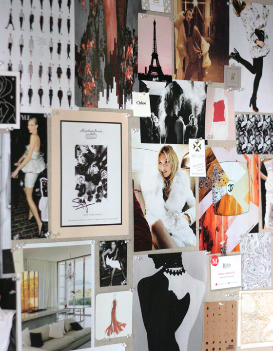 small-shop-DIY-inspiration-pinboard-seasonal-winter-Kate-Moss-Paris-Chanel-black-white-blush-fur