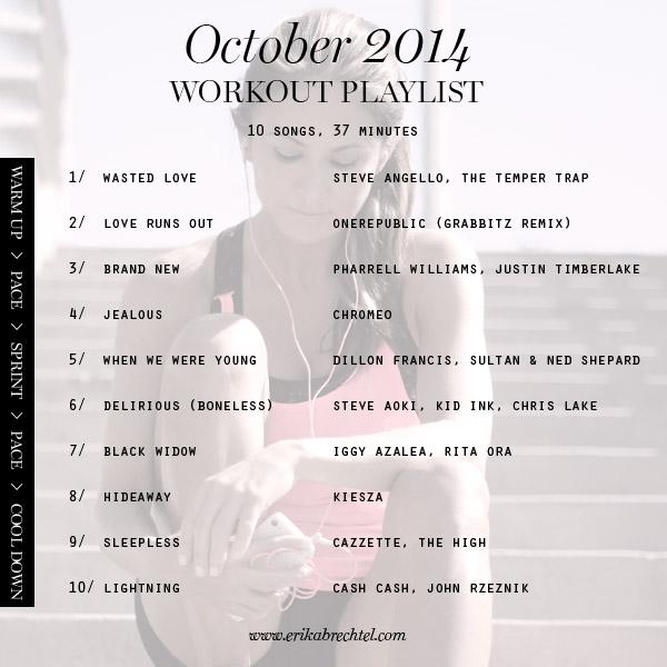 workout playlist October 2014 Erika Brechtel spotify