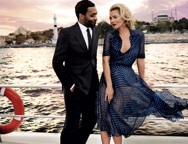 Kate Moss Istanbul Vogue Dec13 sunset sail Gucci polka dot dress photo by Mario Testino