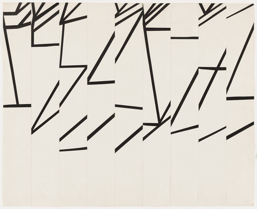 Ellsworth-Kelly-Study-for-Combe-II-cut-pasted-colored-paper-pencil-19501