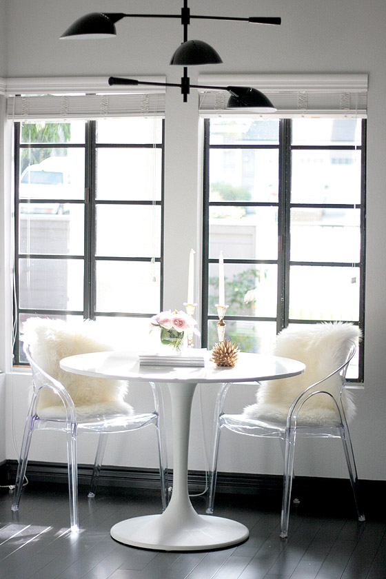 Black White Kitchen Breakfast Nook Erika Brechtel