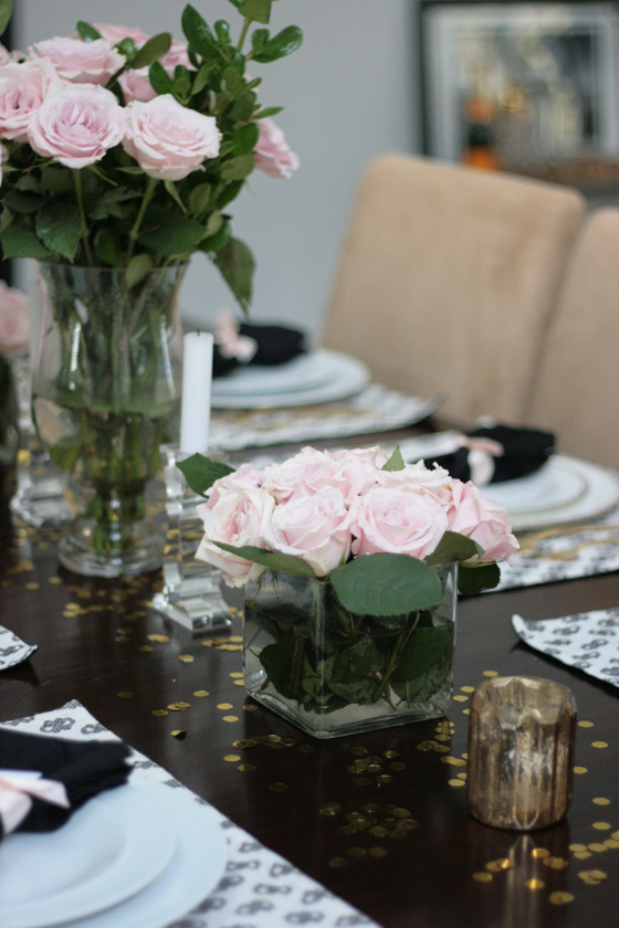Dinner Party Table Black White Pink Amp Gold Erika Brechtel