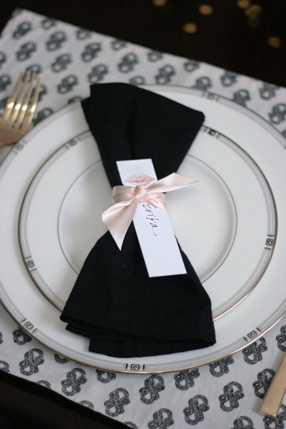 Dinner Party Table Black White Pink Amp Gold Erika Brechtel