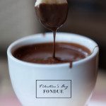Valentine's Day Chocolate Fondue Recipes Caramel Hazelnut Dark Chocolate Kahlua Rum