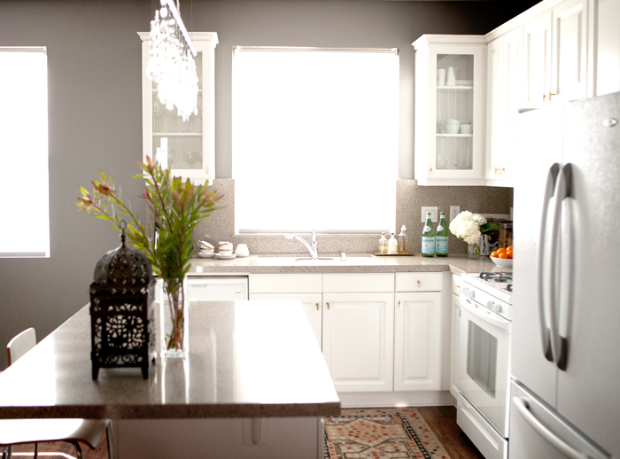 Erikas home tour erika brechtel brand stylist for Best brand of paint for kitchen cabinets with naked wall art
