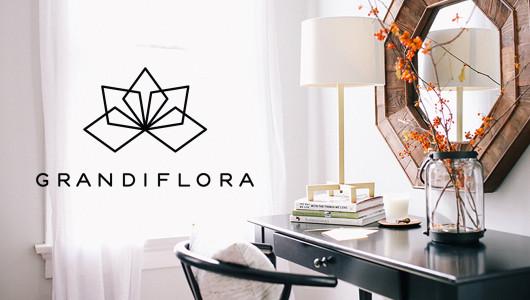 Grandiflora branding by Erika Brechtel