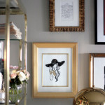 small shop giveaway Anum Tariq fashion illustration Erika Brechtel gallery wall office brass mushroom lamp