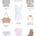 small shop spring ready closet refresh white romper floral stripes lilac nude denim cutoffs Joie Botkier Vince