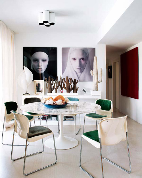 María Lladó Almeria home modern dining room contemporary art Saarinen table