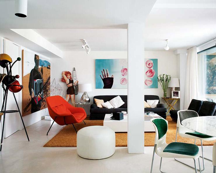 María Lladó Almeria home modern eclectic living room