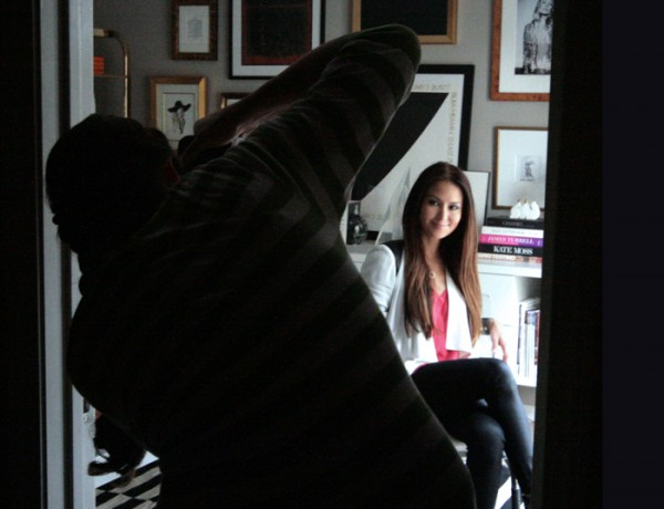 OC Family shoot Erika Brechtel behind the scenes office gallery wall
