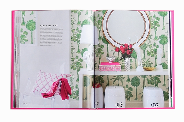 Adore Home magazine book spread green white wallpaper
