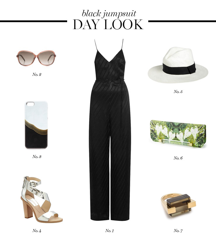 black jumpsuit day look by Erika Brechtel