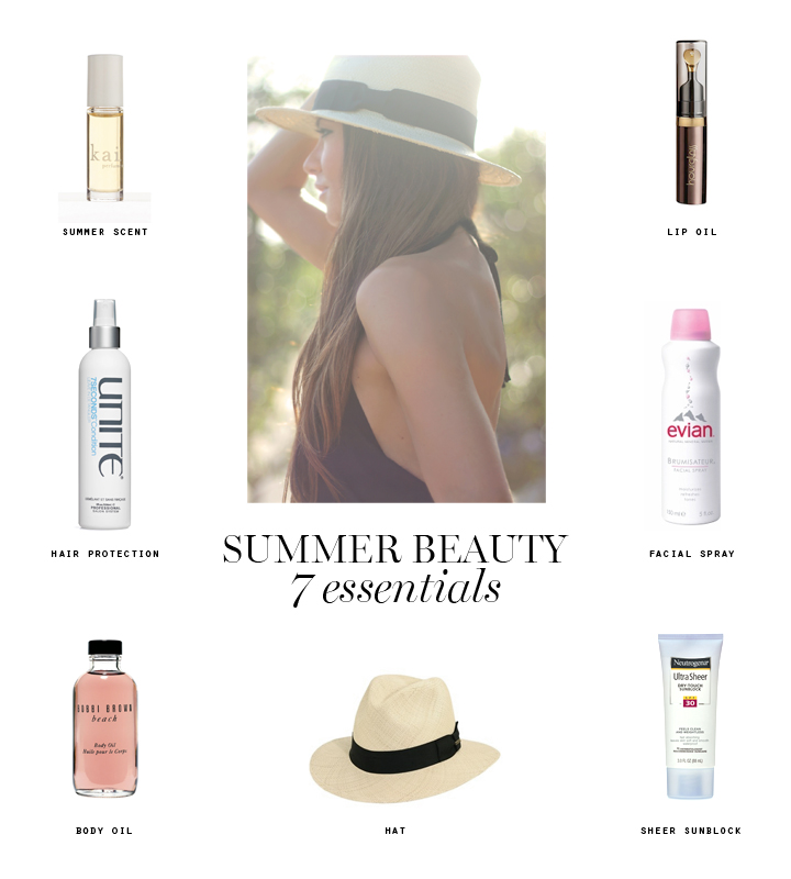 summer beauty Erika Brechtel 7 essentials products