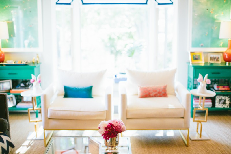 Gray Malin Aqua Glam launch party living room photo by Paige Jones