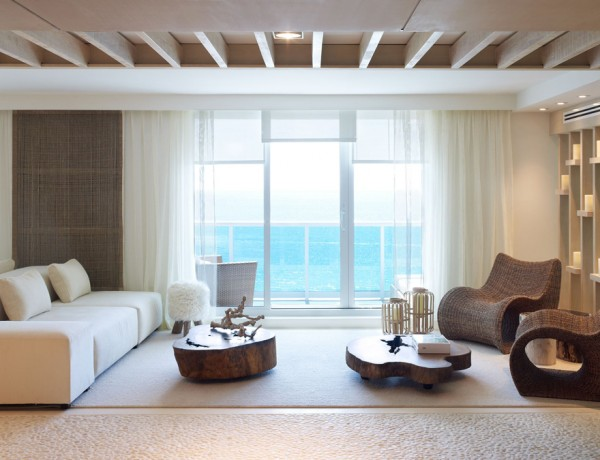 1 sobe miami high rise homes design by Debora Aguiar natural refined neutral living room ocean view