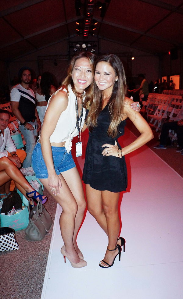Miami Swim Week Luli Fama post show Candice Kumai Erika Brechtel photo by Chris Borchetta