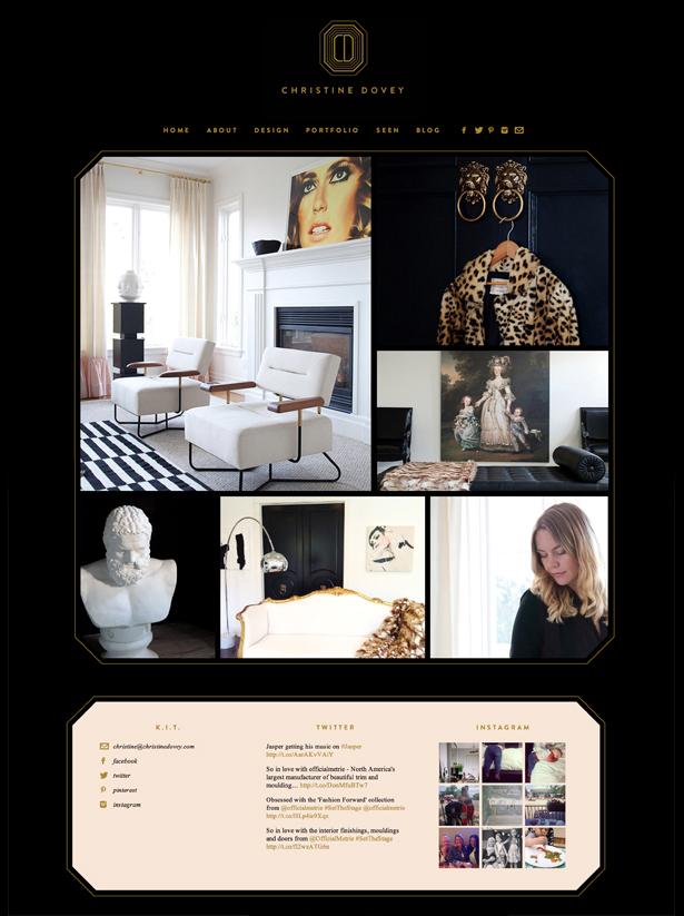 christine dovey website brand black blush gold by Erika Brechtel