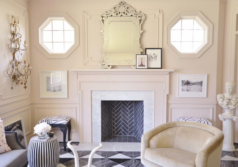 citizen-atelier-piano-room-room-designed-and-styled-by-christine-dovey-and-photographed-by-ashley-capp-fireplace mantle art barrel chair